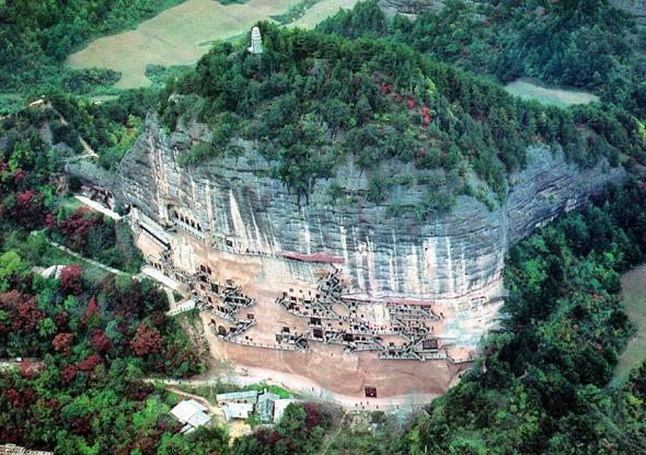 Гроты Майцзишань / The Maijishan Grottoes